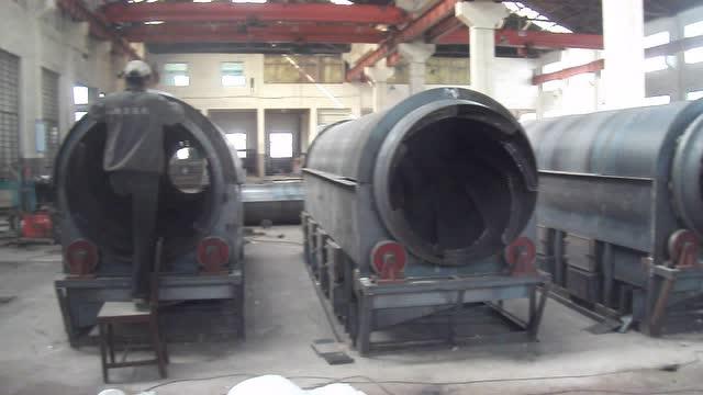 茶叶杀青机 热风炉制造车间