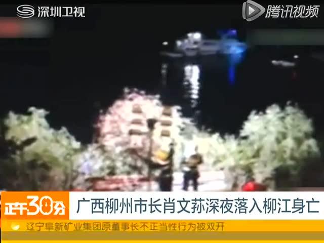 广西柳州市长肖文荪深夜落入柳江身亡截图