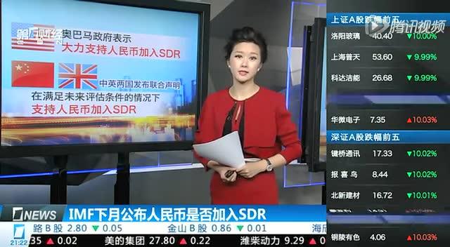 IMF下月公佈人民幣是否加入SDR截圖