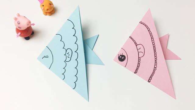 花儿朵朵童趣屋手工折纸-小章鱼教粉红小猪认识小鱼