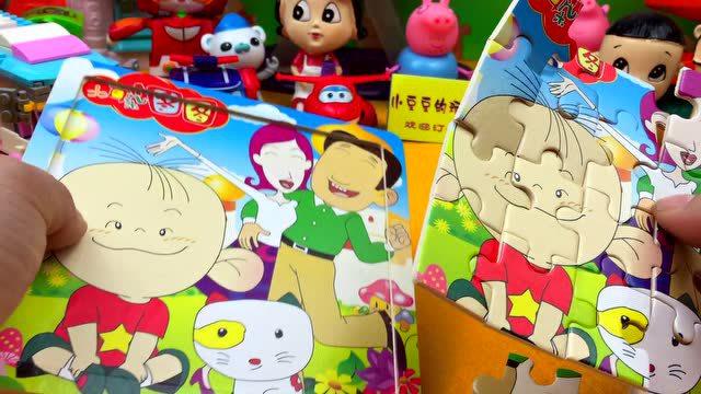 大耳朵图图拼图玩具 珀利警车超级飞侠
