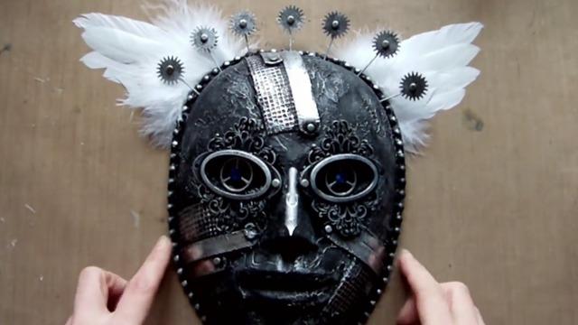 奇特面具的制作过程
