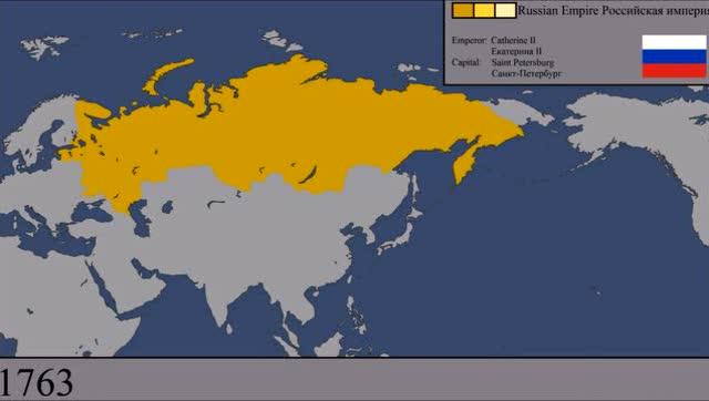 俄罗斯每年疆域变化地图 1547年到2016年