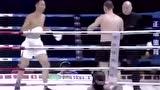 视频:两米中国巨人拳手飞膝KO国外金腰带拳王