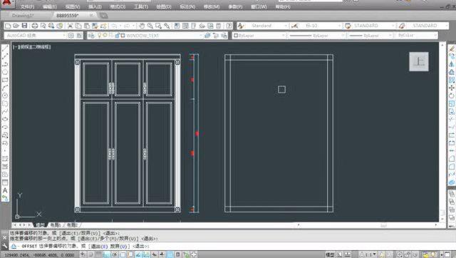 cad入门教程:欧式衣柜立面图画法