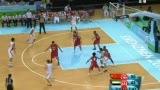 视频:中国队高位挡拆配合 后卫犀利突破得分