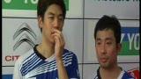 视频:风云组合0-2负韩国冤家 憾获男双银牌