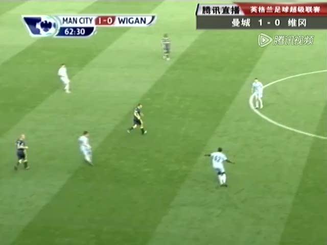 视频:曼城流畅配合 纳斯里助阿圭罗梅开二度