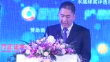 水晶球奖颁奖 财讯传媒集团总裁戴小京发言