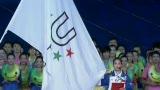 视频:运动员代表龚园 面向全世界庄严宣誓