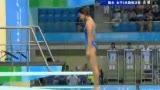 视频:王涵第二跳入水效果差 最终得分69.00