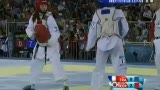 视频:韩国选手精彩推踢击头拿下三分