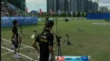 视频:大运会反曲弓男团赛 中国历史性摘金