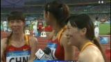 视频:赛后采访女子接力队 有机会下届再来