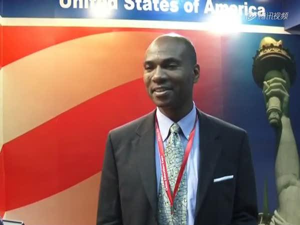 美国驻华大使馆商务处一等秘书陆子龙截图