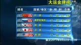 视频:22日最新奖牌榜 中国75金继续领跑