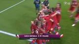 视频:捷克队小组头名出线 球员抱团疯狂庆祝