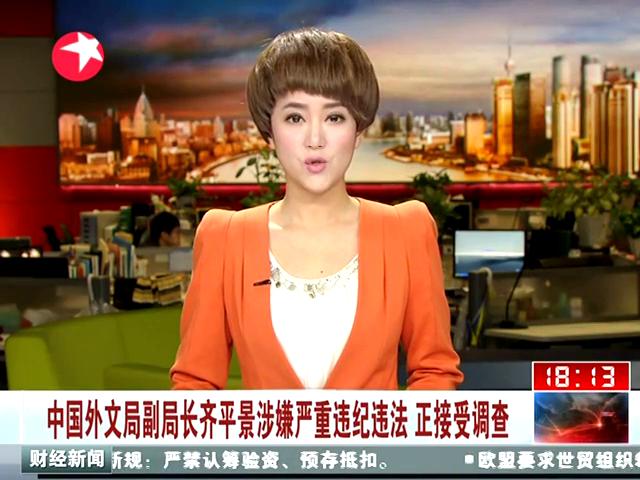 中国外文局副局长齐平景涉嫌严重违纪被免职_
