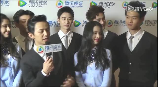 北京电影节腾讯独家采访 何炅称电影拍摄很愉快截图图片