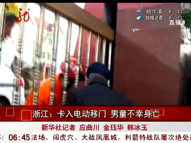 台湾6岁男童被幼儿园电动门夹头身亡(图)