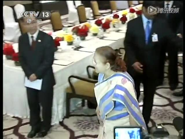 习近平会见印度人民院议长截图