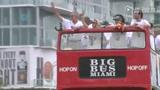 视频:热火巡游引爆全城 杜兰特球衣惨遭恶搞