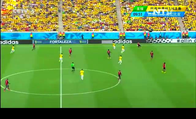 【射门】夸德拉多禁区前大力射门 足球打在边网上截图