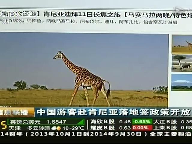 中国游客赴肯尼亚落地签政策开放截图