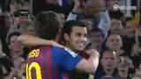 进球视频:巴萨后场长传 梅西低射演帽子戏法