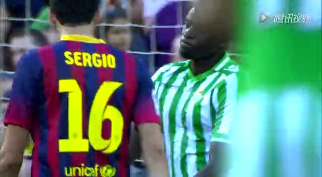 全场集锦:巴塞罗那3-1贝蒂斯 梅西两球内马尔造点截图