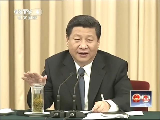 习近平参加江苏代表团审议截图