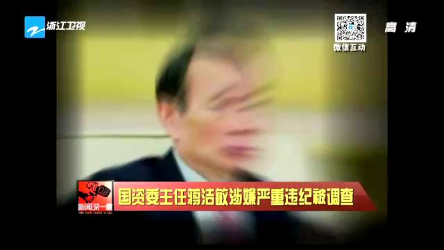 资料视频:国资委主任蒋洁敏严重违纪被调查截图