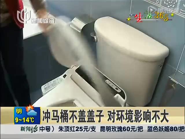 专家辟谣:冲马桶不盖盖子对环境污染影响不大