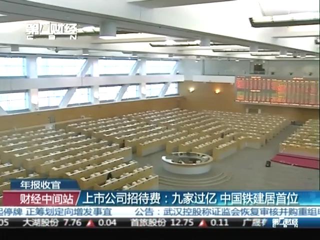 上市公司招待费:九家过亿中国铁建居首位截图