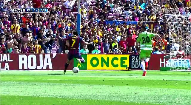 全场集锦:巴萨2-2赫塔菲 梅西建功92分钟丢球截图