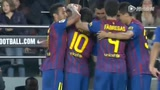 进球视频:梅西点射上演大四喜 深情致谢瓜帅