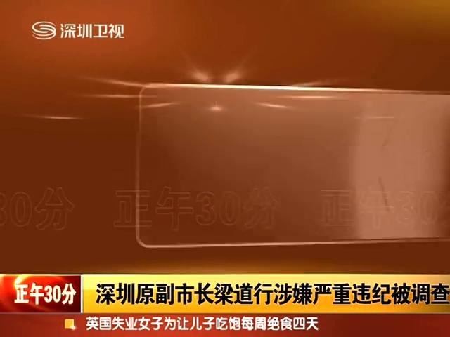 深圳原副市长梁道行涉嫌严重违纪被调查截图