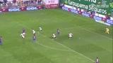 进球视频:佩刀无私助攻 梅西轻松推空门得手