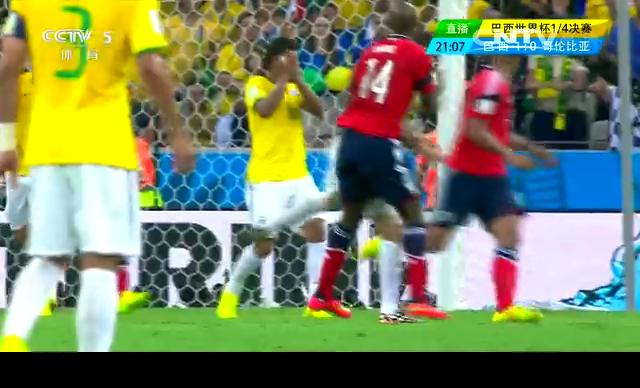 【哥伦比亚集锦】1-2不敌巴西 J罗告别泪洒赛场截图