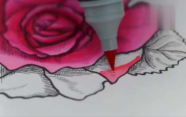让笔尖上色可以让水笔轻松画出渐变效果,可以渐变的水彩笔好棒!