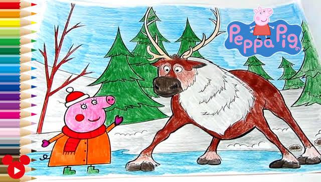 创意趣味绘画 小猪佩奇彩绘着色 早教启蒙 亲子互动