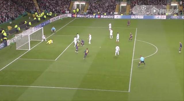 集锦:梅西进球献爱子 凯尔特人2-1巴萨