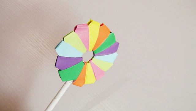 小爱的折纸 棒棒糖