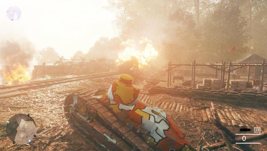 《战地1》动画 跳伞的飞机员用手枪击落敌人飞机