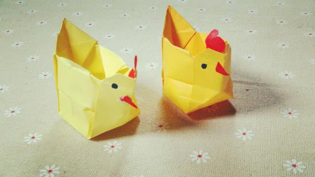 小爱的折纸 小鸡收纳盒