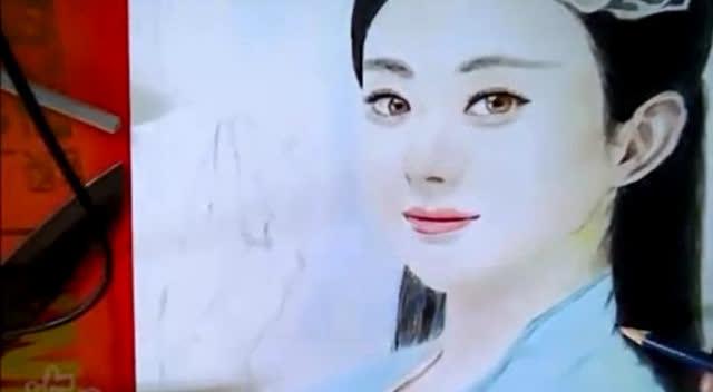 大神铅笔手绘碧瑶 赵丽颖 简直就像真人拍出来的照片