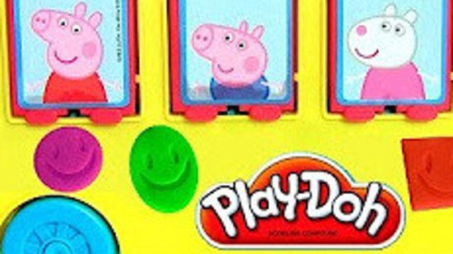 小红蛋蛋玩具394:橡皮泥印章玩具小猪佩奇校车