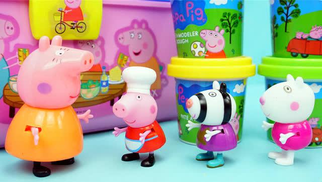小猪佩奇 野餐橡皮泥 玩具 粉红猪小妹 小猪一家亲