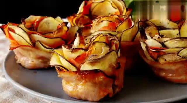 红薯和胡萝卜居然可以做出玫瑰花!好看又好吃!
