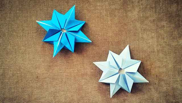 手工折纸 简单的雪花折纸视频教程
